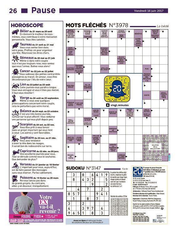 horoscope 20 minutes