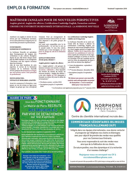 20 Minutes France N 3317 7 Sep 2018 Page 16 17 20 Minutes