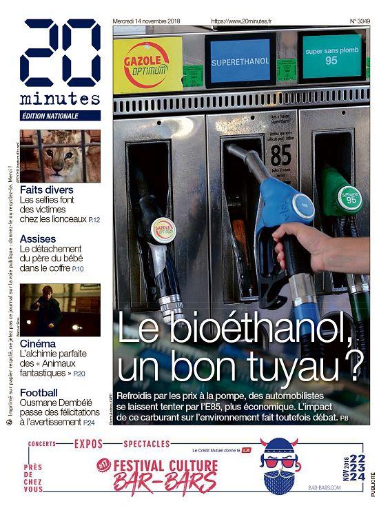 b63ee71d321b1 ... France n°3349 14 nov 2018 - 20 Minutes France - régional    internationale - générale - Actualité - 1001mags - Magazines en PDF à 1 €  et GRATUITS !