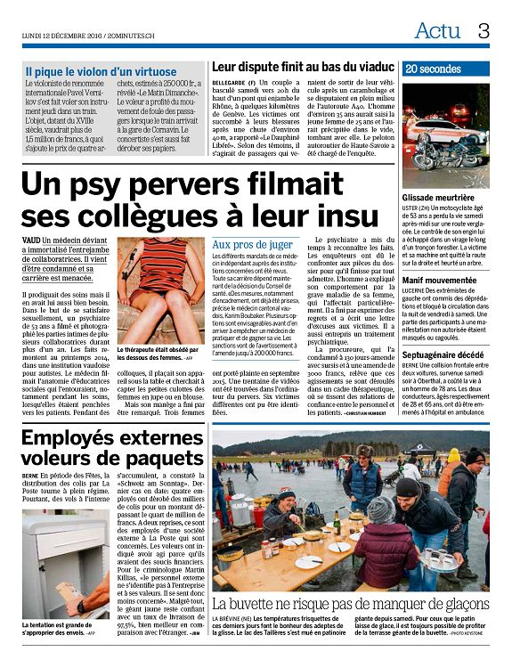 20 Minutes Genève N 2016 12 12 Lundi Page 2 3 20