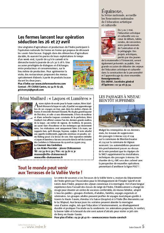 36 indre union n 86 jui ao sep 2014 page 2 3 36. Black Bedroom Furniture Sets. Home Design Ideas