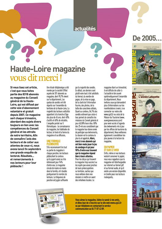 43 haute loire magazine n 53 d c 12 jan f v 2013 page for 43 haute loire