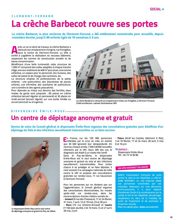 63 Puy De Dôme En Mouvement N152 Janfév 2015 Page 14 15 63