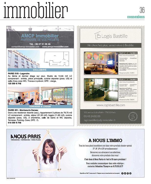 A Nous Paris N679 23 Fév 2015 Page 36 37 A Nous Paris N679
