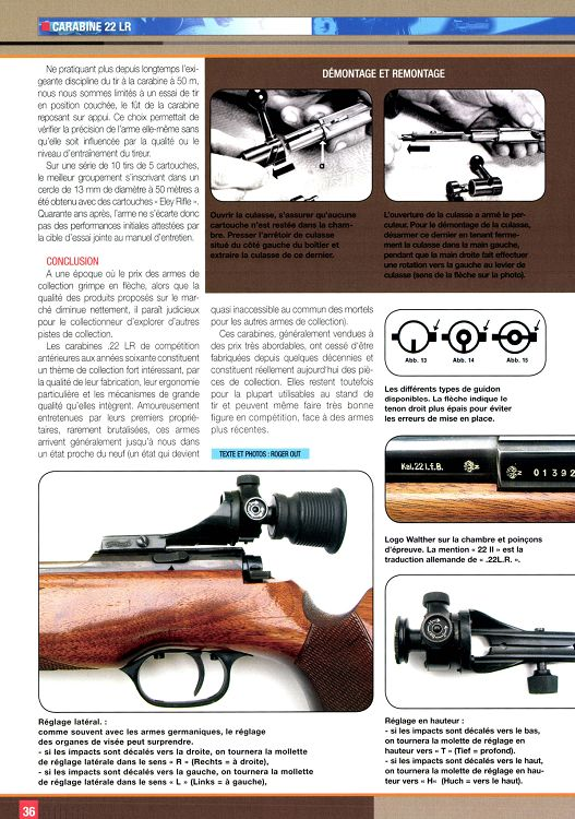 Bouche canon walther kkm