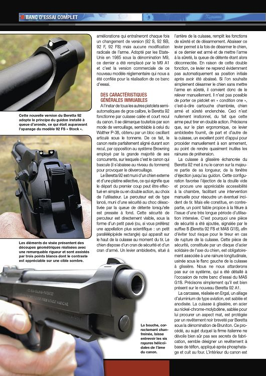 Beretta 92 S Noyer Grip sécurité d/'effet de levier