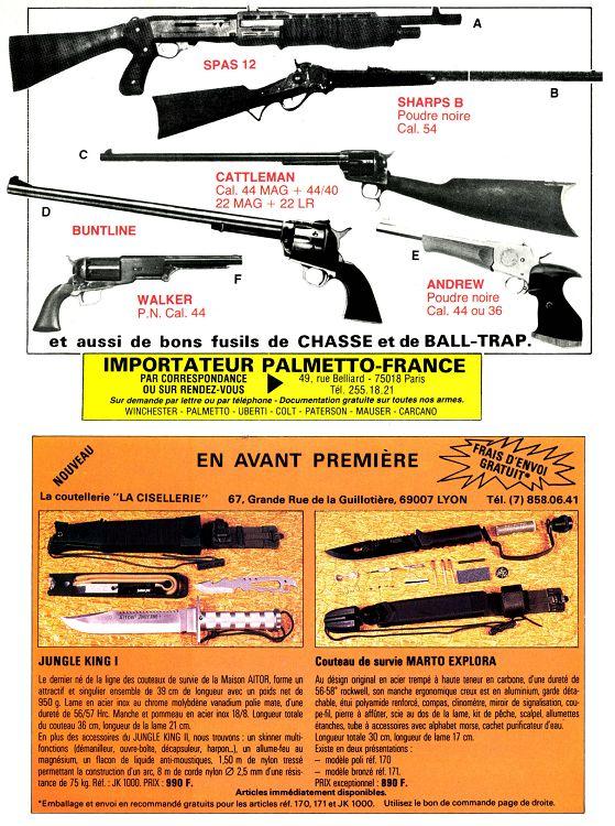 fusil sharp poudre noire