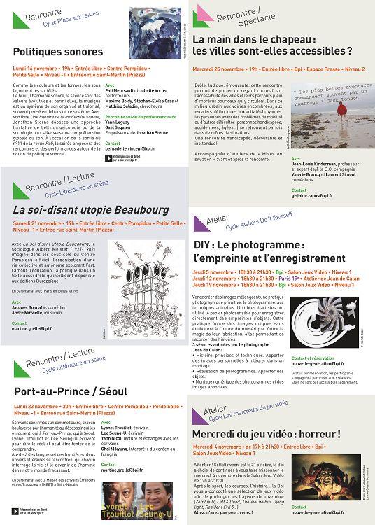 rencontres internationales pompidou