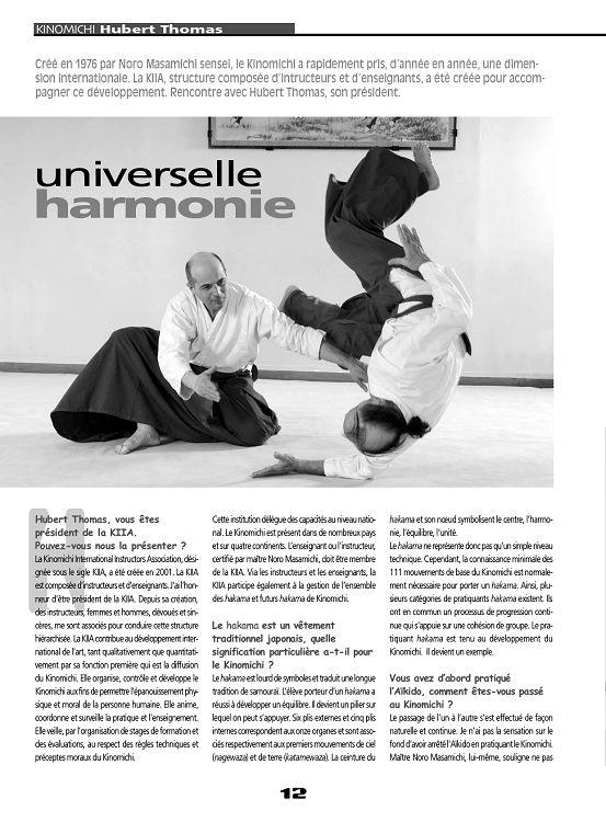 Aïki Mag N22 Jun à Nov 2011 Page 12 13 Aïki Mag N22 Jun à