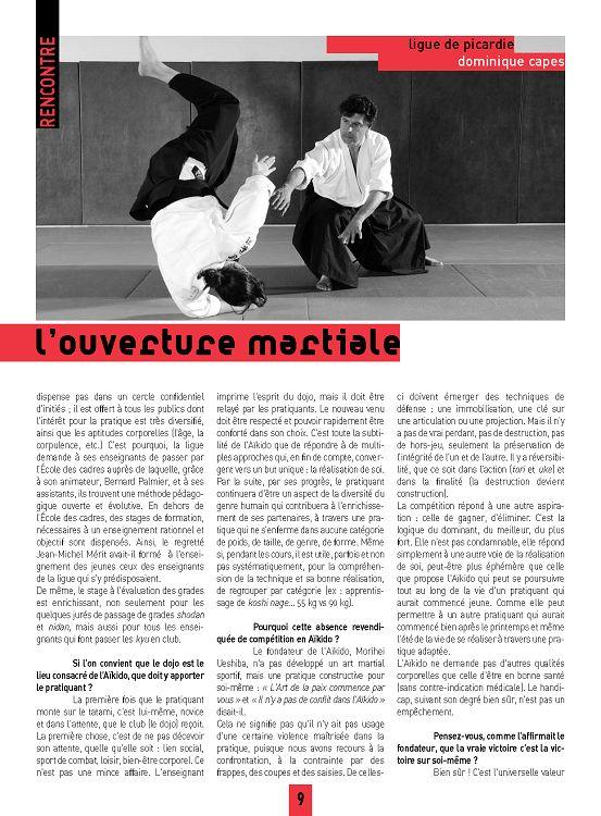 Aïki Mag N25 Déc 12 à Mai 2013 Page 8 9 Aïki Mag N25 Déc 12