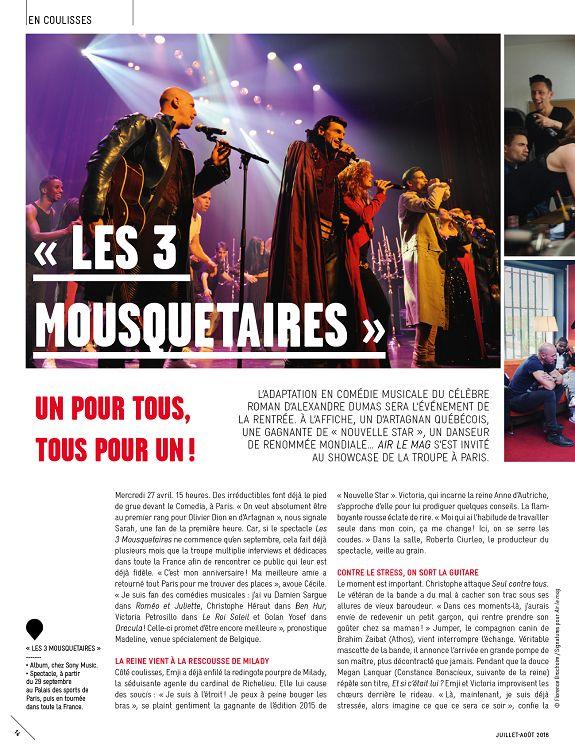 2d8d274cbf05d1  14 EN COULISSES « LES 3 MOUSQUETAIRES » UN POUR TOUS, TOUS POUR UN ! « LES  3 MOUSQUETAIRES » - Album, chez Sony Music. Spectacle, à partir du 29  septembre ...