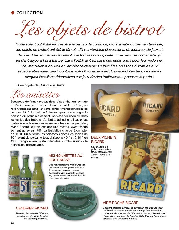 objets collection ricard