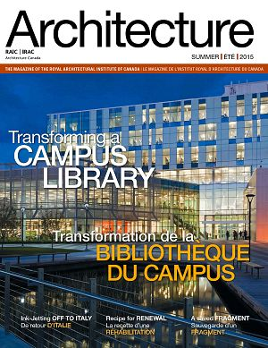 Architecture Canada n°19 2nd semestre 2015