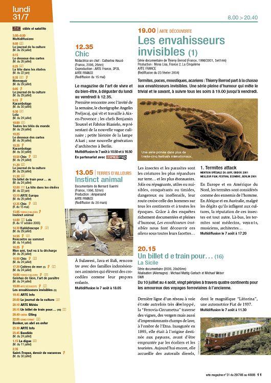 Arte Magazine N 31 29 Jui 2006 Page 10 11 Arte Magazine N 31