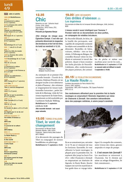 Lundi 4 9 800 2040 Cble Et Satellite 300800 Multidiffusions Le Journal De La Culture M Du 2 Septembre 815 Dessous Des Cartes 30