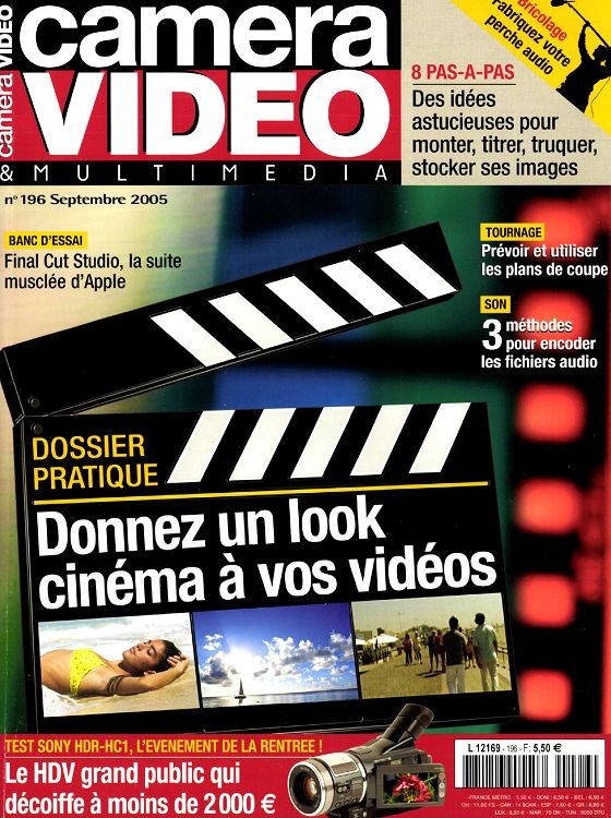 Camera Video N196 Septembre 2005 Page 94 95 Camera Video N