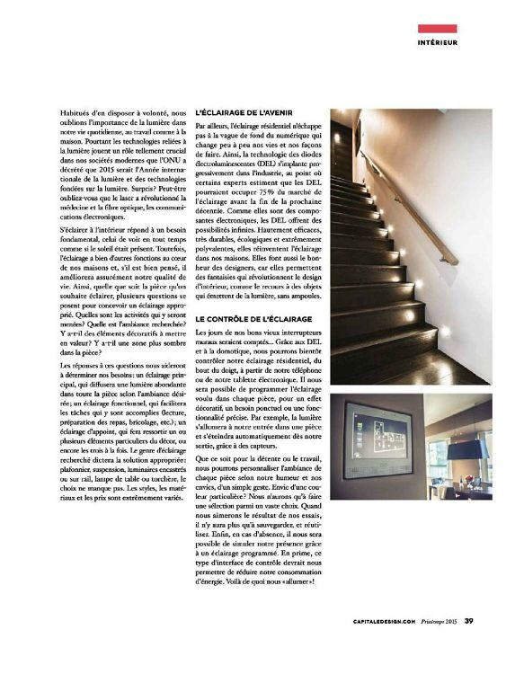 Capitale design n 1 mar avr mai 2015 page 34 35 for Architecture interieur pdf