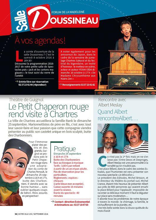 181a19dc1537 Chartres Votre Ville n°159 septembre 2016 - Page 58 - 59 - Chartres ...