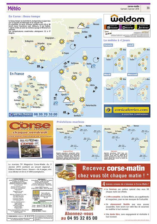 Corse Matin N2015 01 03 Samedi Page 2 3 Corse Matin N