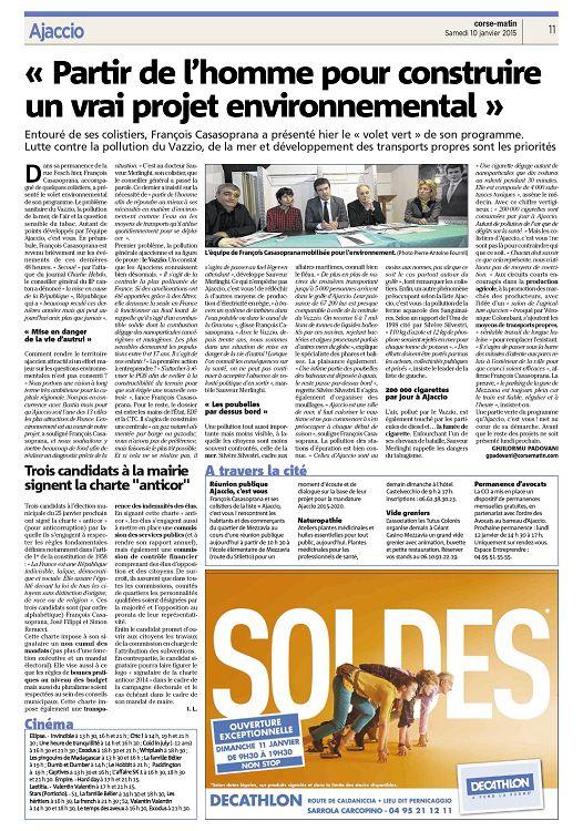 parution corse matin numero  dimanche page texte integral