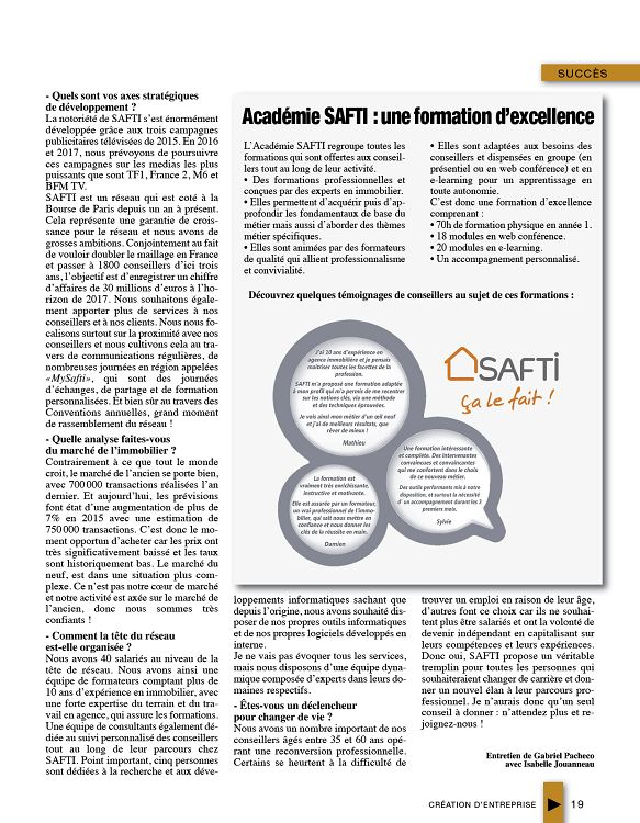 Cr ation d 39 entreprise n 56 avr mai jun 2016 page 2 3 for Idees creation entreprise 2016