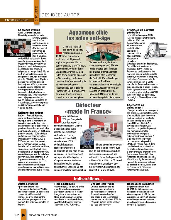 Cr ation d 39 entreprise n 57 jui ao sep 2016 page 2 3 for Idee creation entreprise 2016