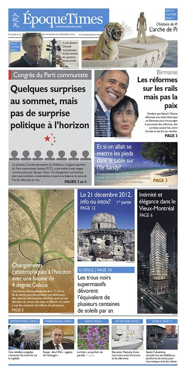 Epoque Times Montreal N 345 26 Nov 2012 Page 2 3 Epoque Times