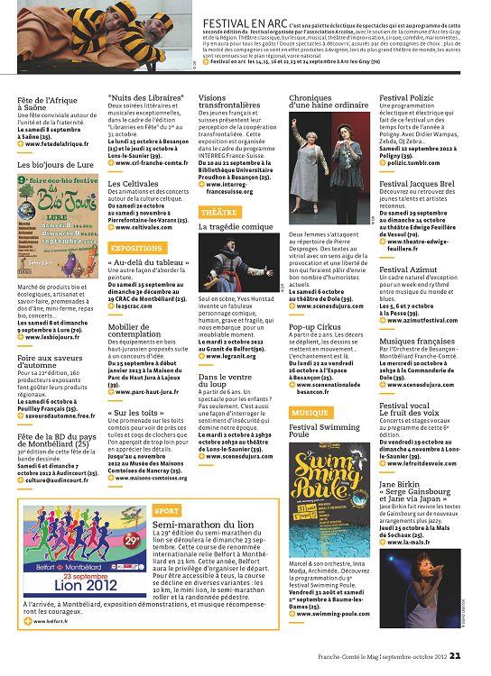 Franche-Comté] Franche-Comté Le Mag n°30 sep/oct 2012 - Page