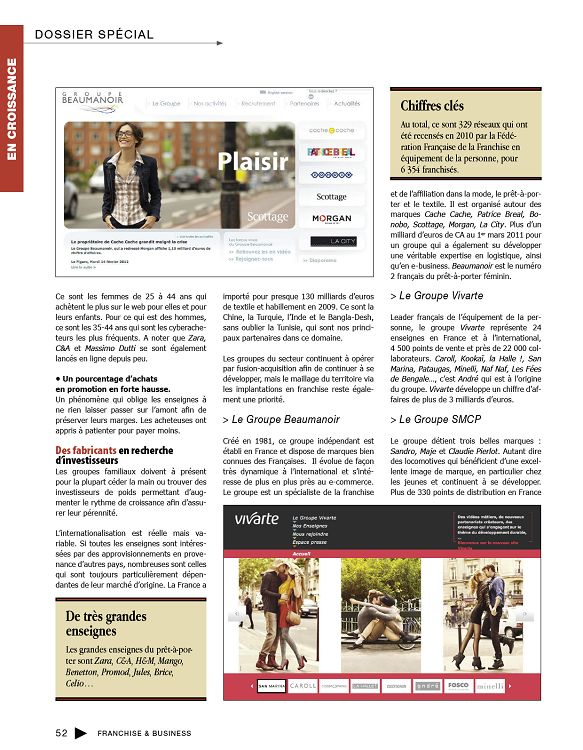 Franchise   Business n°40 mar avr 2012 - Page 52 - 53 - Franchise ... c2b4dc640cb