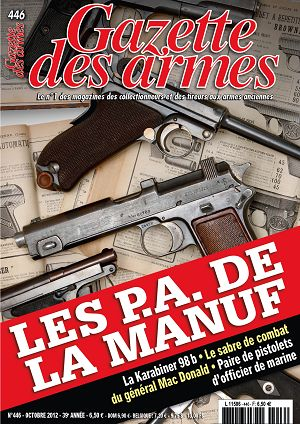 Gazette des Armes n°446 octobre 2012