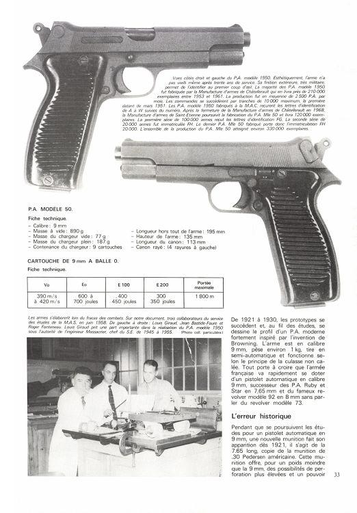 pistolet système pedersen