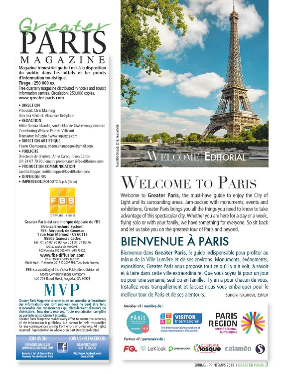 Greater Paris n°41 maravrmai 2018 Page 2 3 Greater