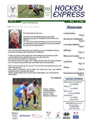Hockey Express n°27 mar/avr 2006