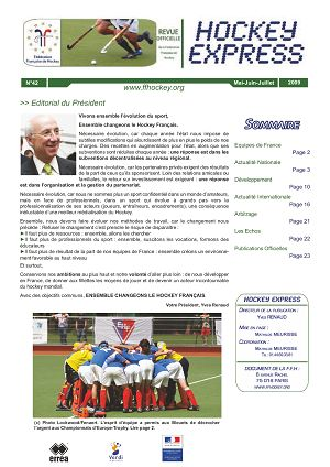 Hockey Express n°42 mai à aoû 2009