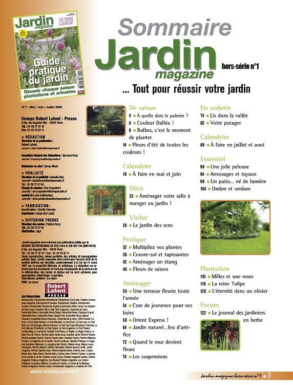 Jardin Magazine N 1 Hs Mai Jun Jui 2006 Page 2 3 Jardin