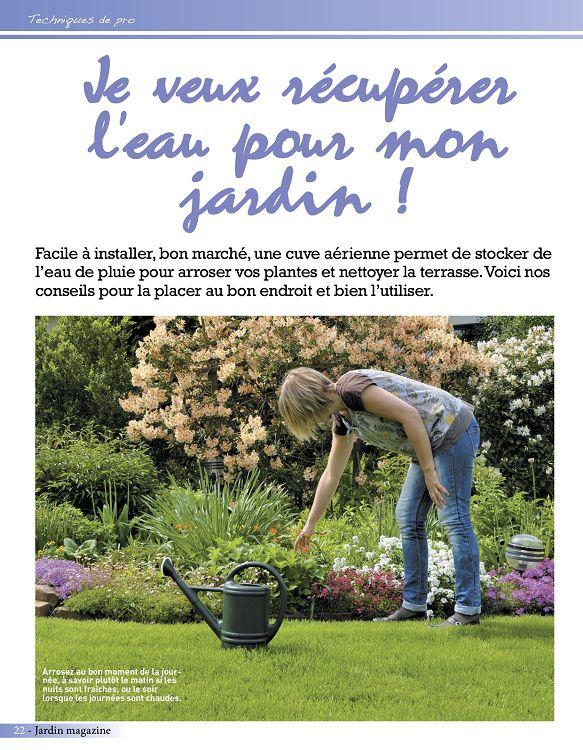 pour arroser un jardin il faut compter 6l