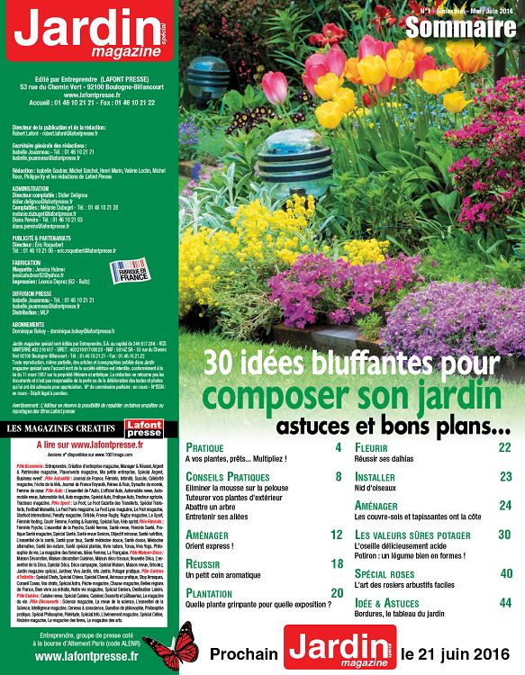 Jardin magazine sp cial n 1 mai jun 2016 page 32 33 for Composer son jardin