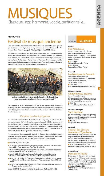 rencontres de musique ancienne de ribeauvillé-mairie de ribeauvillé