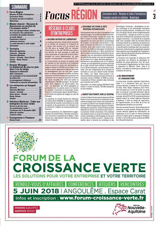 Journal Des Professionnels N 139 Mai Jun 2018 Page 2 3