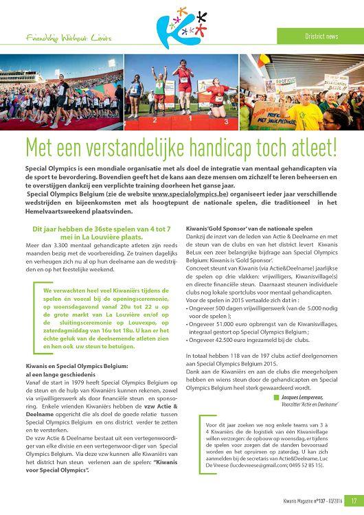 Kiwanis Belgium Luxembourg N137 Maravrmai 2016 Page 38 39