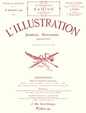 L'Illustration n°4359 18 sep 1926