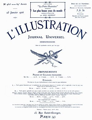L'Illustration n°4325 23 jan 1926