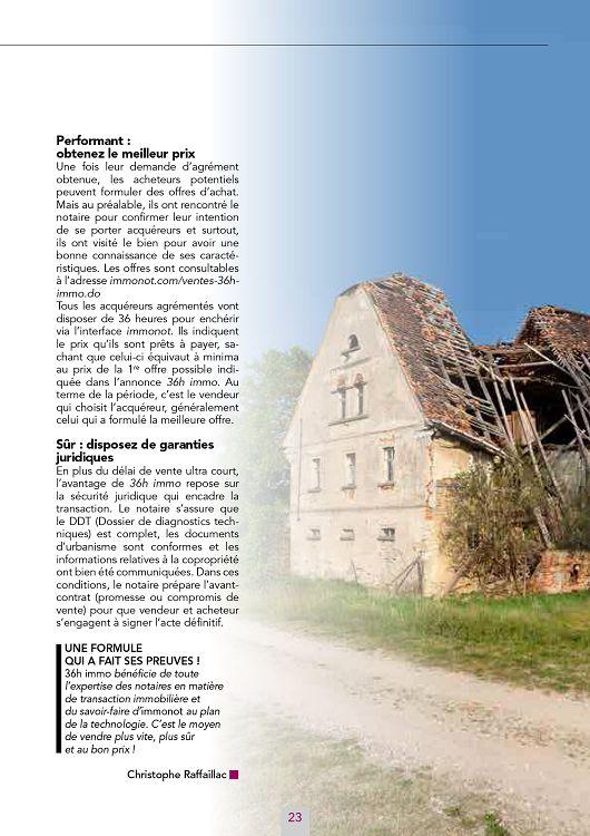 L'Immobilier des Notaires n°9 mar à aoû 2015 - Page 22 - 23