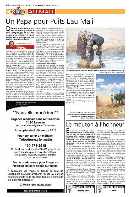 La Revue Québec n°52-27 24 nov 2010 - Page 60 - 61 - La