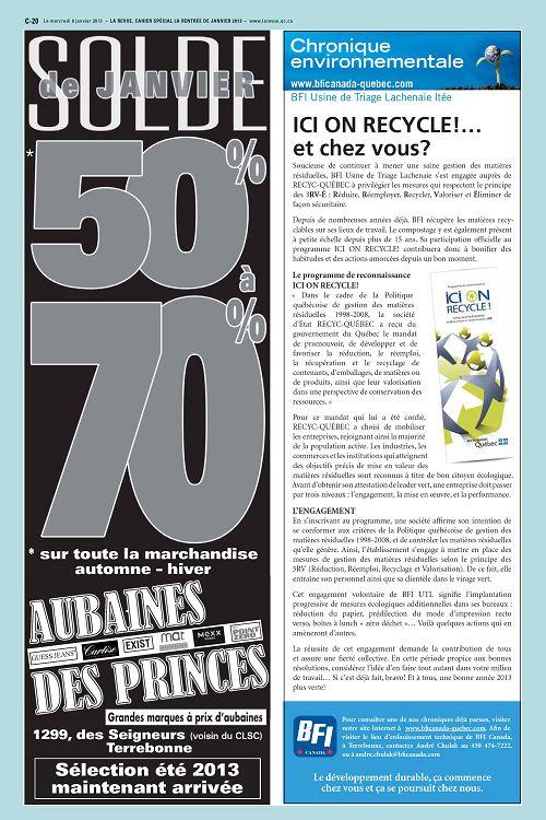 La Revue Québec n°54-33 9 jan 2013 - Page 34 - 35 - La Revue