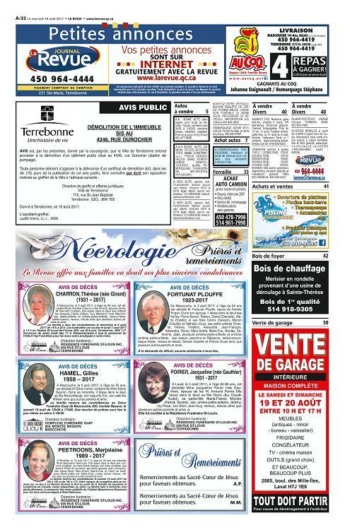 La Revue Quebec N 58 13 16 Aou 2017 Page 32 33 La Revue Quebec