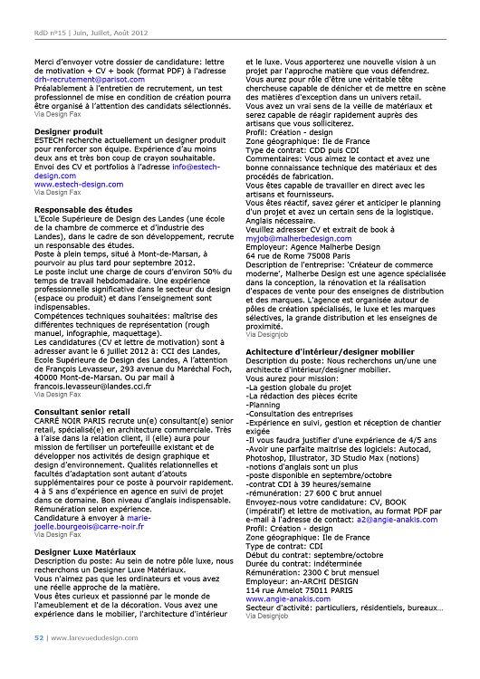 La Revue Du Design Design Et Architecture Intérieur