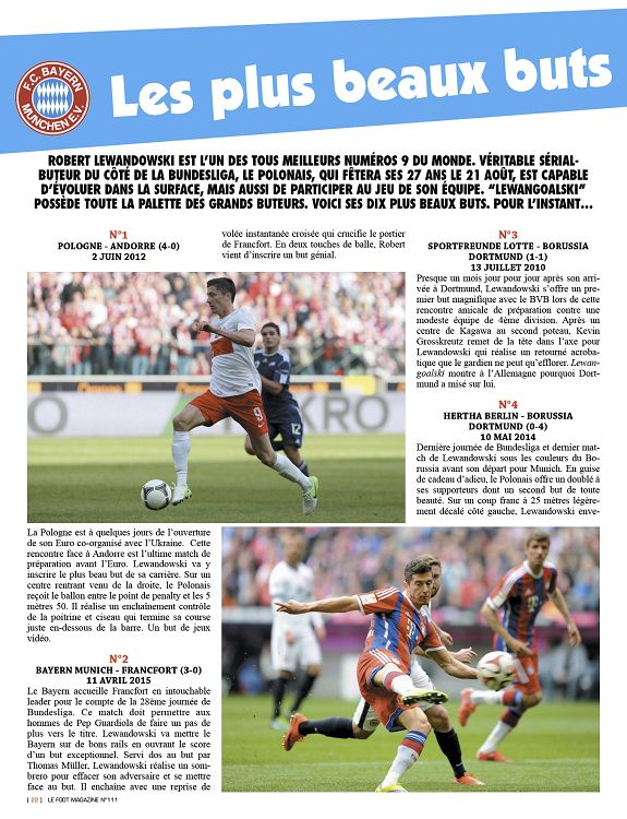 Le Foot Magazine N 111 Aou Sep Oct 2015 Page 22 23 Le Foot