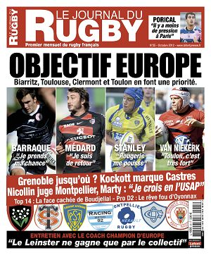 Le Journal du Rugby n°25 octobre 2012