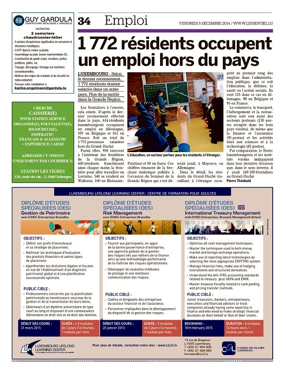 L'essentiel Luxembourg n°1650 5 déc 2014 - Page 32 - 33 - L
